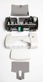 Демонтированный принтер на белой предпосылке Стоковые Изображения RF