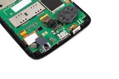 Демонтированный сотовый телефон Стоковое Фото