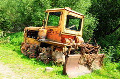Демонтированный трактор Стоковые Фото