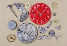 Демонтировал часы Стоковая Фотография