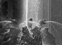 демон выслеживает фонтан Стоковые Изображения RF