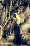Демон в лесе Стоковая Фотография