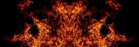 Демон от огня иллюстрация штока