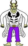Демон с рожками иллюстрация штока
