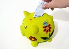 Денежный ящик свиньи, сохраняя концепция денег Стоковые Изображения RF