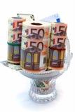 деноминации клали монетную вазу Стоковое Изображение RF