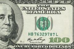 Деноминация 100 долларов Стоковая Фотография RF