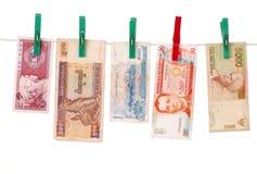 деньги азиатских стран Стоковые Фотографии RF