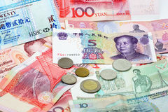 деньги Азии стоковое фото