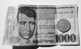 деньги Армении Стоковое Изображение