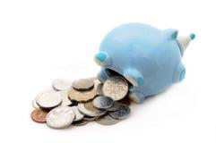 деньги банка 15 отсутствие piggy сбережени Стоковое Изображение