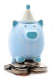 деньги банка 5 отсутствие piggy сбережени Стоковая Фотография