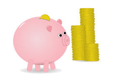 деньги банка piggy иллюстрация вектора