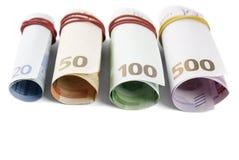 Деньги банкнот евро Стоковое фото RF