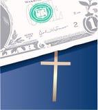 деньги библии Стоковое Изображение