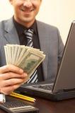 деньги бизнесмена Стоковые Фото