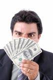 деньги бизнесмена Стоковое фото RF