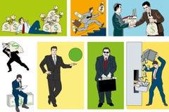 Деньги бизнесмена бесплатная иллюстрация