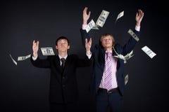 деньги бизнесменов Стоковые Фотографии RF