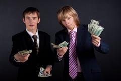 деньги бизнесменов Стоковые Изображения