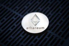 Деньги валюты монетки Ethereum секретные Стоковое Изображение