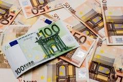 Деньги, валюта евро Стоковое Изображение