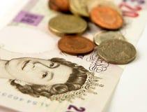 деньги Великобритания Стоковое фото RF