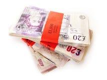 деньги Великобритания Стоковая Фотография