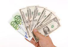 деньги вентилятора стоковое фото rf