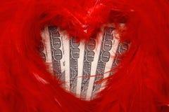 деньги влюбленности к Стоковые Фото