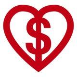 деньги влюбленности Стоковые Фото