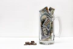 Деньги внутрь и снаружи Стоковое Изображение