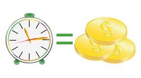 Деньги времени, часы, вектор стоковое изображение