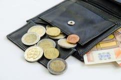 Деньги в бумажнике стоковое фото rf
