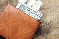 Деньги в бумажнике Стоковые Фото