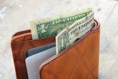 Деньги в бумажнике Стоковое Изображение