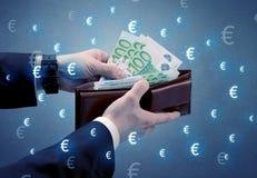 Деньги в бумажнике Стоковое Фото