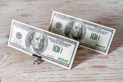 Деньги в бумажных зажимах Стоковое фото RF