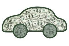 Деньги в вашем автомобиле стоковое изображение rf