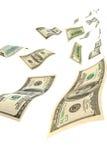 Деньги в воздухе, вертикальный состав. стоковые изображения