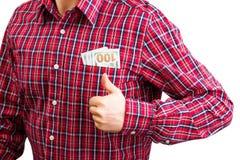 Деньги в карманн человека Стоковая Фотография RF
