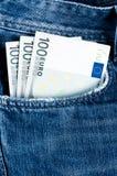 Деньги в карманн Стоковые Изображения