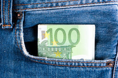 Деньги в карманн Стоковое Фото