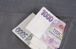 Деньги в карманн Стоковое Изображение