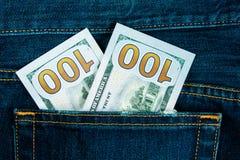 Деньги в карманн Стоковое фото RF