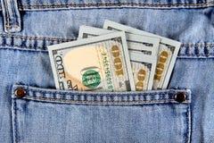 Деньги в карманн Стоковая Фотография RF