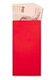 Деньги в красном габарите Стоковая Фотография RF