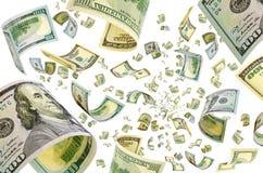 Деньги в полете Стоковые Фото