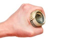Деньги в руке Стоковая Фотография