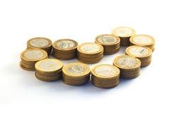 Деньги в форме сердца Стоковые Фото